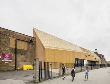 The giant golden spaceship that has landed on the site of Whitehorse Primary has won an international architecture award