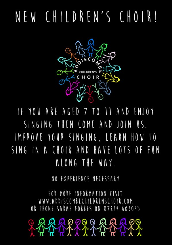 Addiscombe children's choir flyer