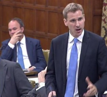 MP Chris Philp speaking at the House of Commons: he is backing calls for a new primary for Coulsdon