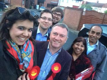 Emily Benn, left, in full-on selfie mode during the election campaign with Progress MP Steve Reed. Reed has since accepted a job in Jeremy Corbyn's shadow team