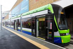 The new tram platform at Wimbledon will allow services to run every five minutes