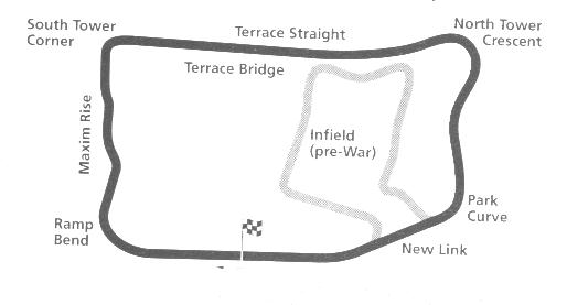 How the race circuit was laid out in the park, long before the National Sports Centre was built in the 1960s