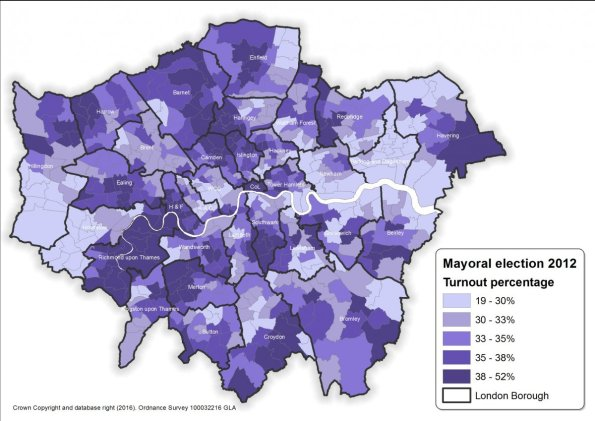 The LondonElects map of 2012 turn outhows that the Tory-supporting ar