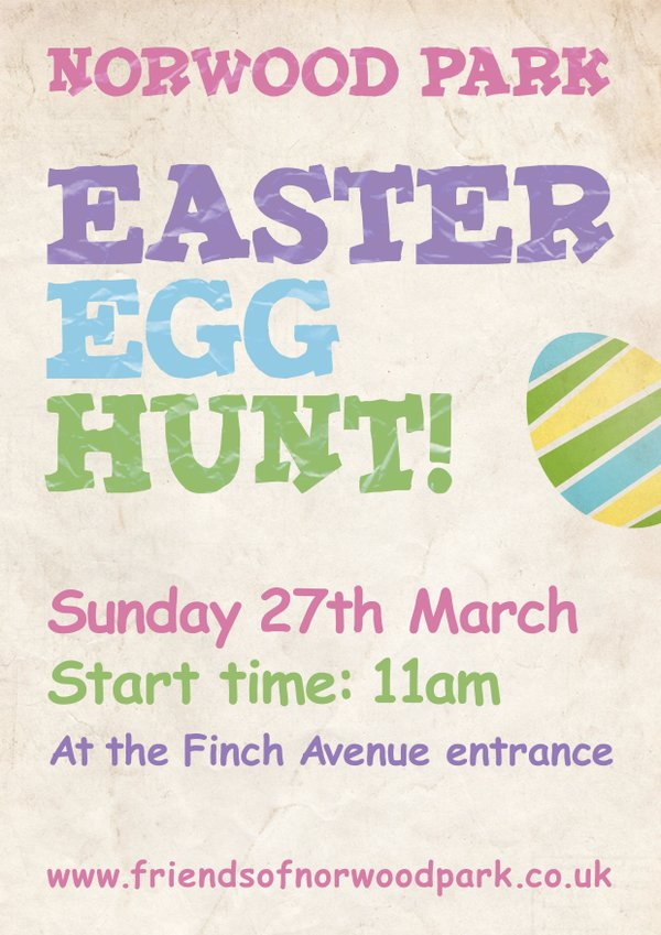Norwood Park Easter egg hunt