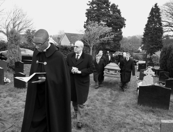 Rev'd Jarel leading the procession - Uncle - Cardiff - 2015