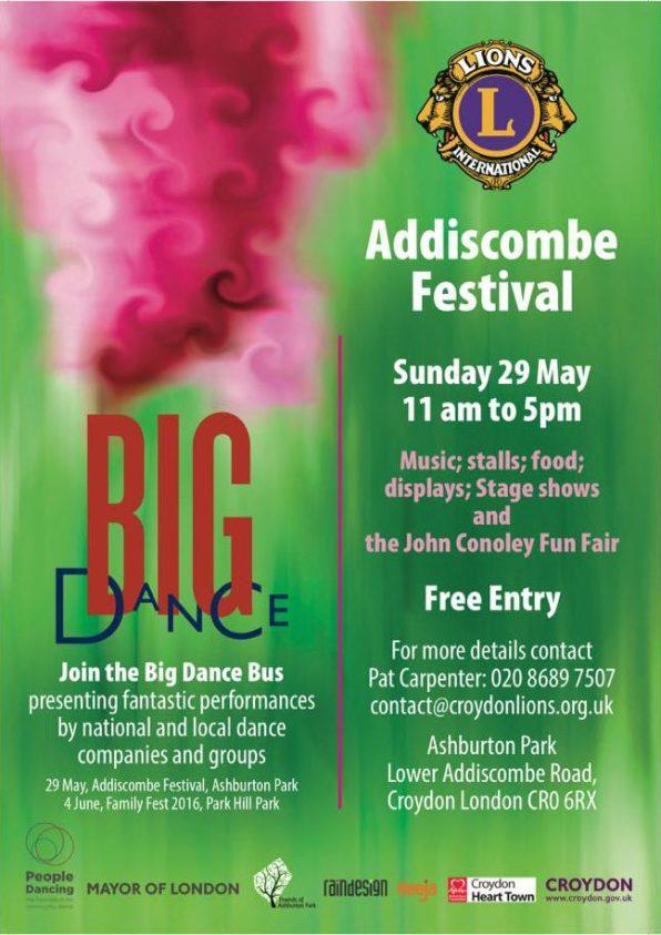 Big Dance bus Addiscombe