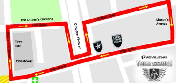 Cycle race route