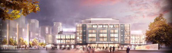 How the redeveloped Fairfield Halls and College Green are suppoed to look
