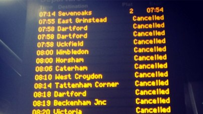 Trains cancelled Southern