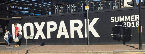 Boxpark, alongside East Croydon Station, is already running three months late