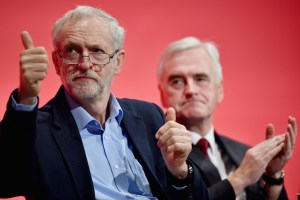 Thumbs up: Jeremy Corbyn and John McDonnell are influenced by Andrew Fisher