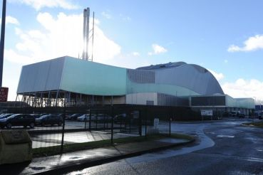 The waste incinerator at Splott, outside Cardiff, which is causing operators Viridor so many problems