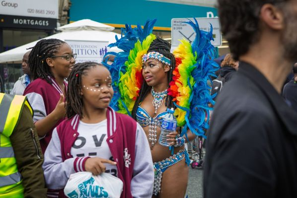 The summer warmth had not lingered long enough for the carnival goers at Thornton Heath this year, providing chilly conditions. But local carnival goers still entered into the spirit of carnival