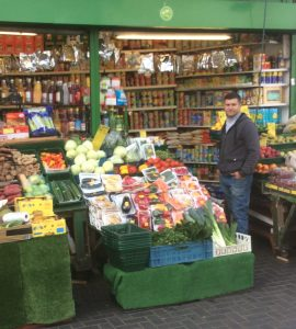 Sam Patel and his greengrocers in South Norwood. He may be forced to shut up shop as a result of the council's licence fees