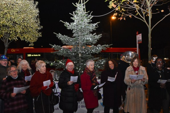 Purley's Tree of Light was switched on last week
