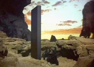 Kubrick's mysterious monolith from the movie 2001 A Space Odyssey