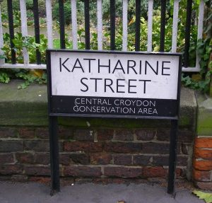 Who was the Katharine who one of Croydon's early developers names this street after?