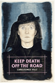 Road safety advertisements have been refined since the 1940s