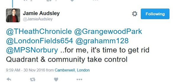Labour councillor Jamie Audsley has gone public with his calls for Quadron to be fired