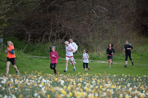 Lloyd Park in the spring time is a terrific venue for its weekly Parkrun. But you won't be seeing Geoff Marshall there in a hurry. Photo: Mike King