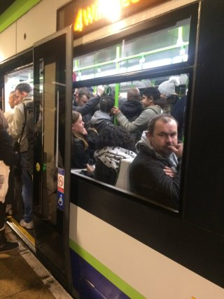 Tram-packed: another week of misery for commuters trying to get to work, with our taxes funding compensation
