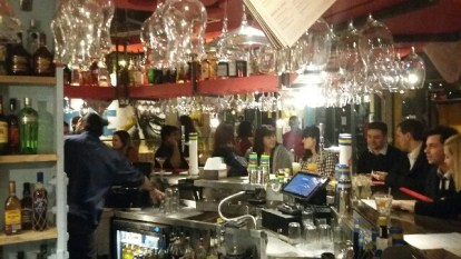 The busy bar in the new Turtle Bay restaurant in Croydon