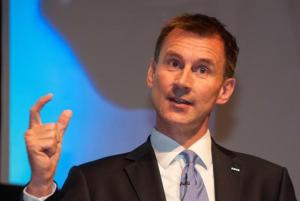 Jeremy Hunt: won't be content until the NHS is reduced to this small