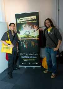 A young animator and a games artist. It`s their 4th time at Encounters and they are looking forward to see some animation and see other authors have done.
