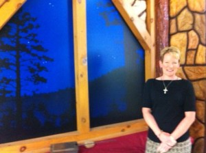 "Sherry Kennedy Brownrigg talks about her apostolate, Maria Regina Cleri, on the set of ""Vocation Boom,"" a new series filming at EWTN."
