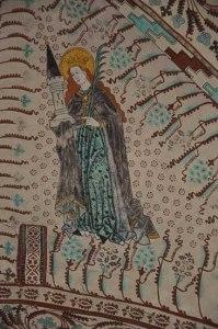 Sweden Enanger, Halsingland mother mary again fresco