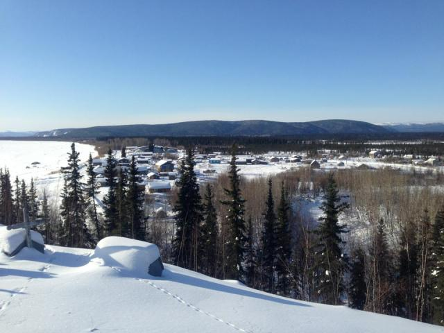 Overlooking Nulato & Yukon River