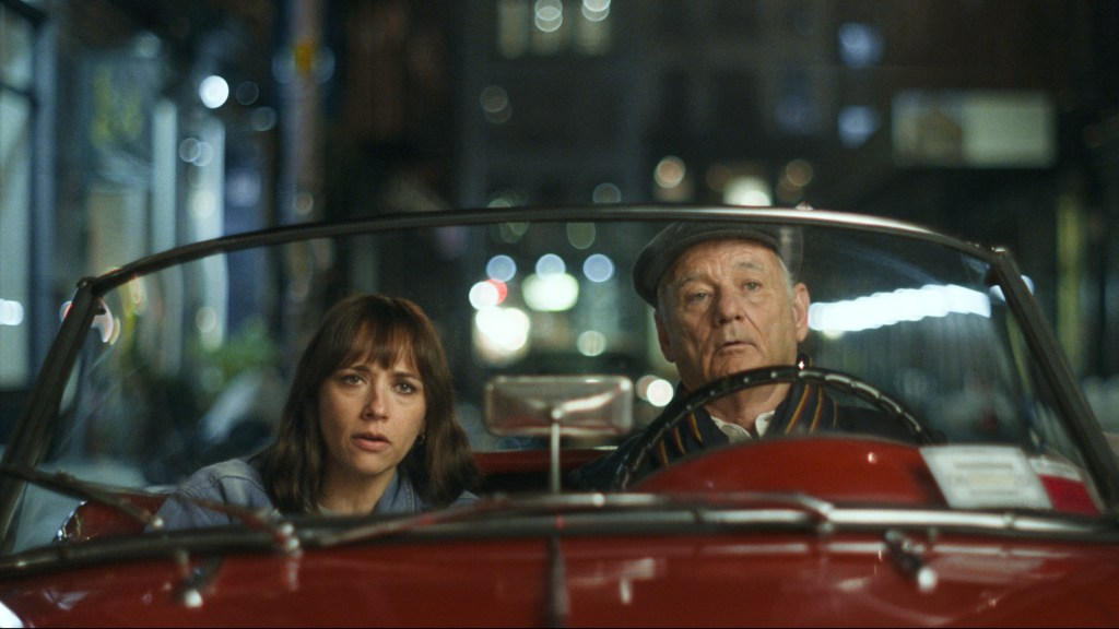 Rashida Jones and Bill Murray