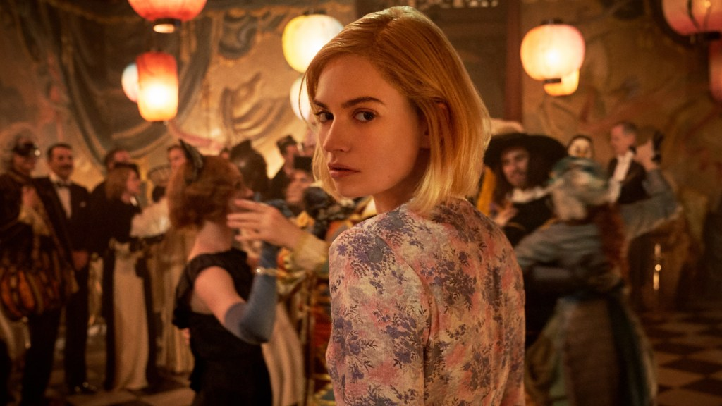 Lily James in Rebecca