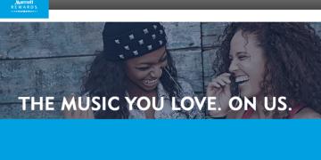 Marriott Rewards free music Fridays