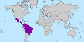 Zika virus map March 2016