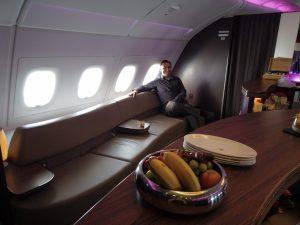 Qatar Airways Business Class A380 Lounge
