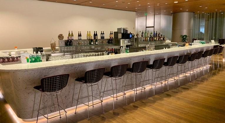 Qatar Airways Al Mourjan Business Lounge flagship bar