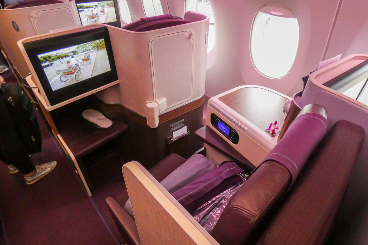 Thai Airways Airbus A350 business class seat