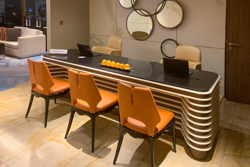 Executive lounge reception