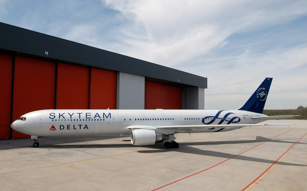Delta aircraft in SkyTeam livery (Source: SkyTeam)