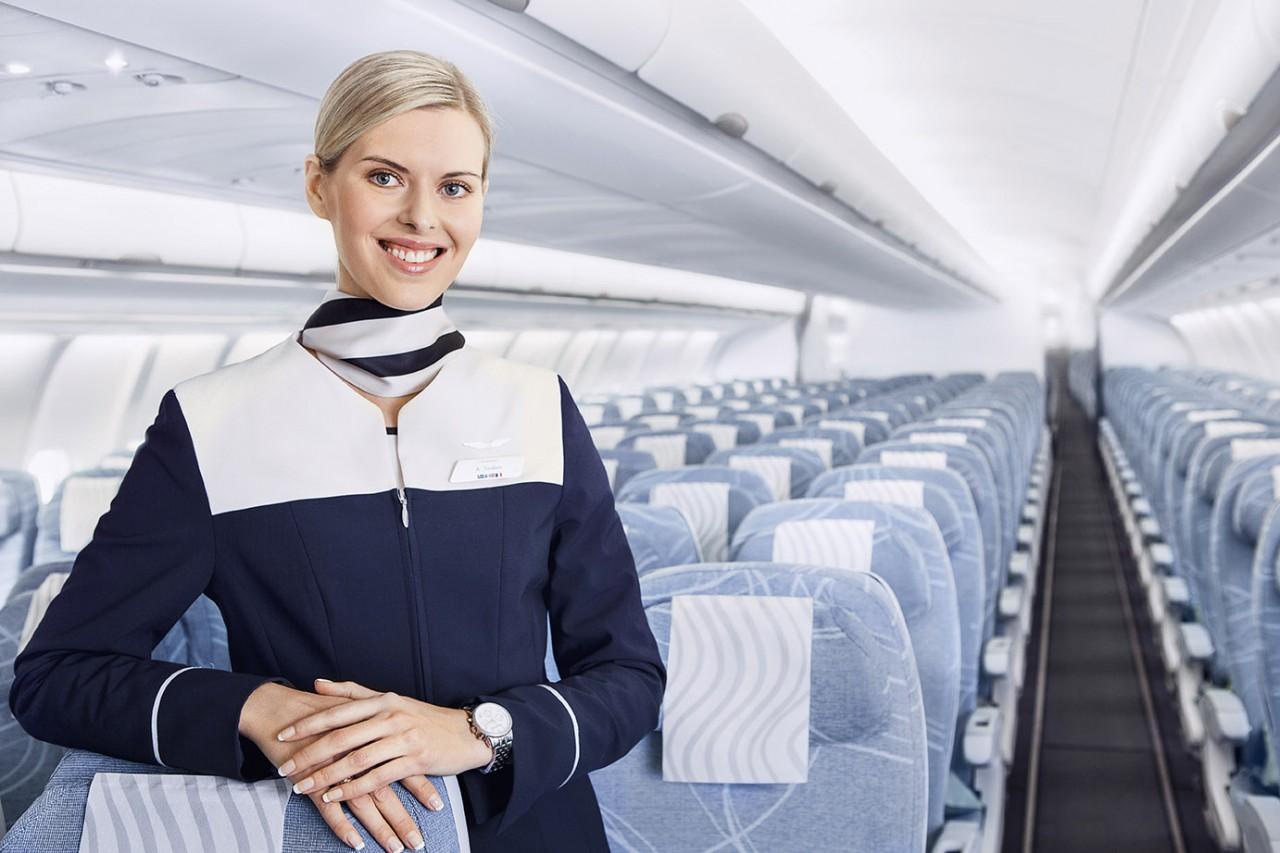 Finnair economy cabin attendant