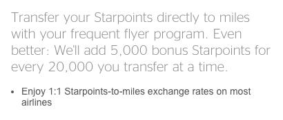 American Airlines Miles Verdienen - SPG Transfer to Miles