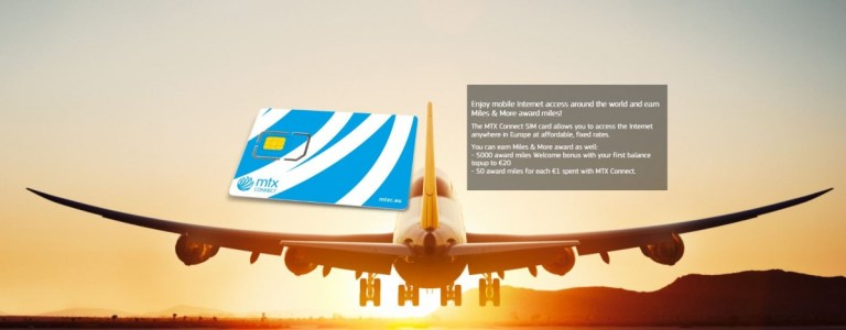 Lufthansa Miles and More bij MTX simkaart