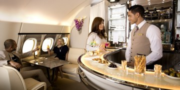 Emirates A380 onboard bar
