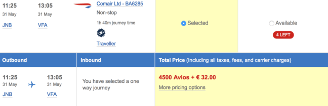 BA, British Airways, Comair, Executive Club, Avios