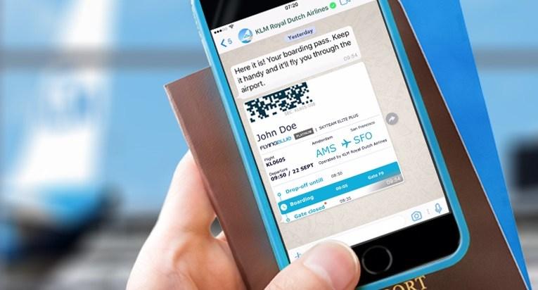 KLM en Whatsapp