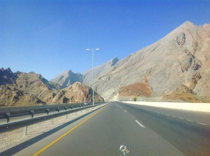 Oman, weg, bergen