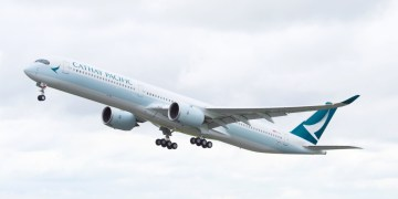Airbus A350-1000 van Cathay Pacific (Bron: Cathay Pacific)