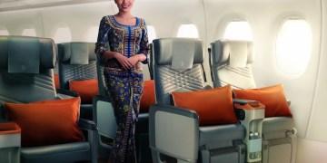 Premium Economy in de A350-900ULR (Bron: Singapore Airlines)