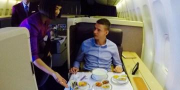 Thai airways, first class, trip report, boeing 747